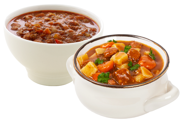 Grab N Go Chili and soup image from our Monday offerings.