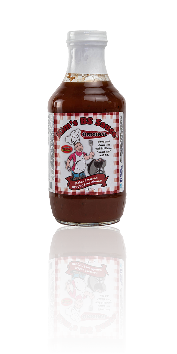 Image of Kim's BS Sauce original flavor available at all Trig's locaitons.