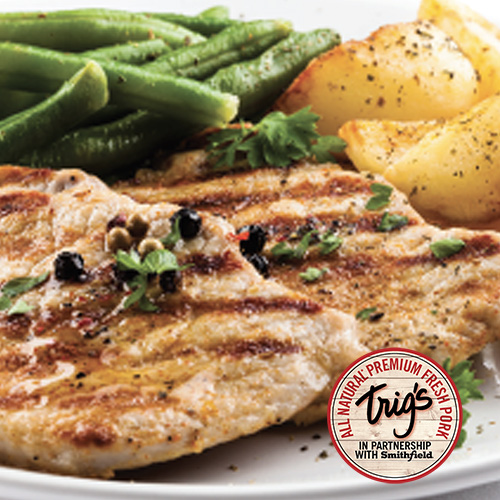 Trig's All Natural Boneless Pork Chops $3.99/lb