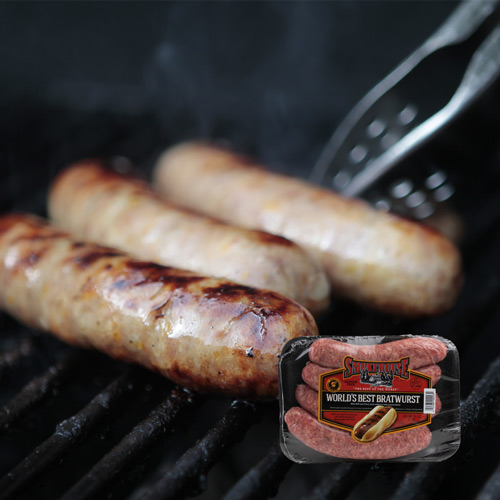 Trig's Smokehouse World's Best Brats 40 oz. Original, Green & Gold or Point Beer $8.99