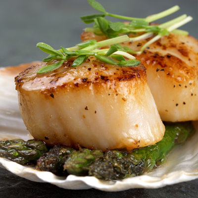 Jumbo Sea Scallops $12.99/lb (u/10ct)