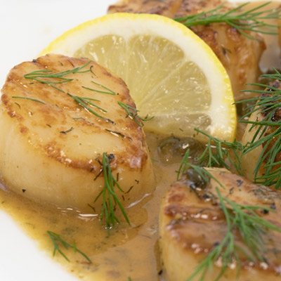 Jumbo Sea Scallops U/10 ct. $13.99/lb - Seafood Special for Lent!