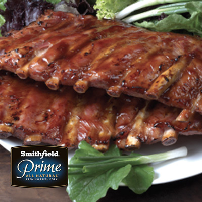 Smithfield All Natural St. Louis Pork Ribs $2.88/lb