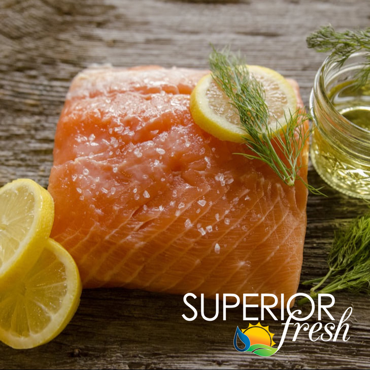Superior Fresh Salmon Fillets $15.99/lb