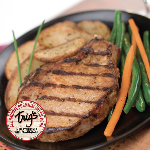 Trig's All Natural Boneless Pork Chops - Family Pack $2.19/lb