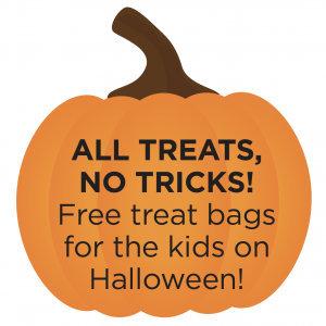 Trig's will have free treat bags for kids in-store on Halloween.