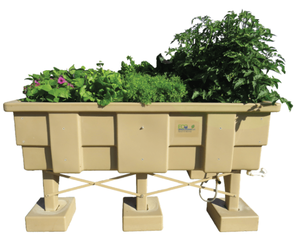 Image of an assembled eco-garden system available at all Trig's locations